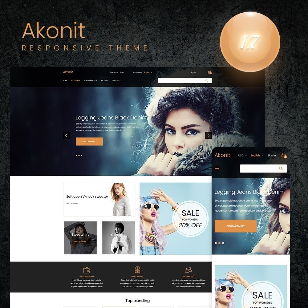 theme - Fashion & Shoes - Akonit Fashion Store - 1