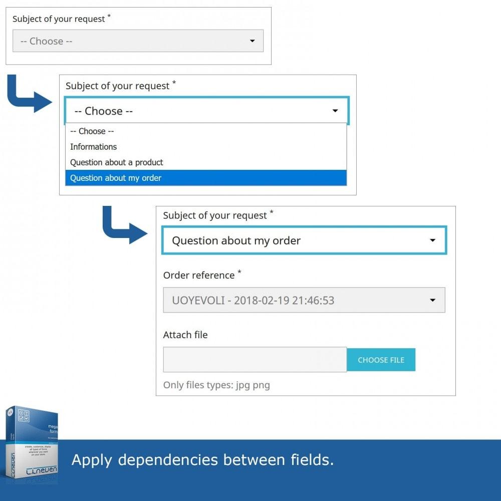 module - Form di contatto & Questionari - Mega Form - Forms builder - 6