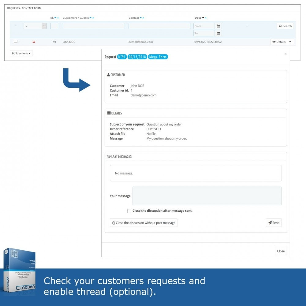 module - Formularz kontaktowy & Ankiety - Forms builder - Customizable & Threads - 7
