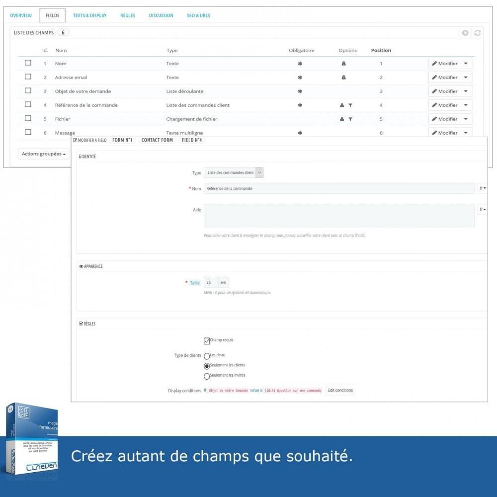 module - Formulaires de Contact & Sondages - Générateur de formulaires avancés & Fils de discussions - 11