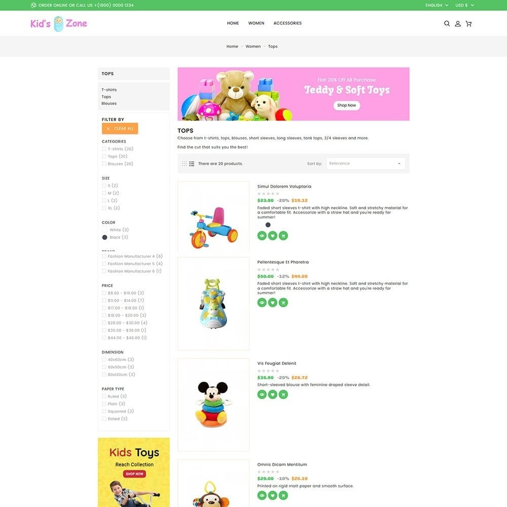 theme - Kids & Toys - Kids World Toy Store - 6