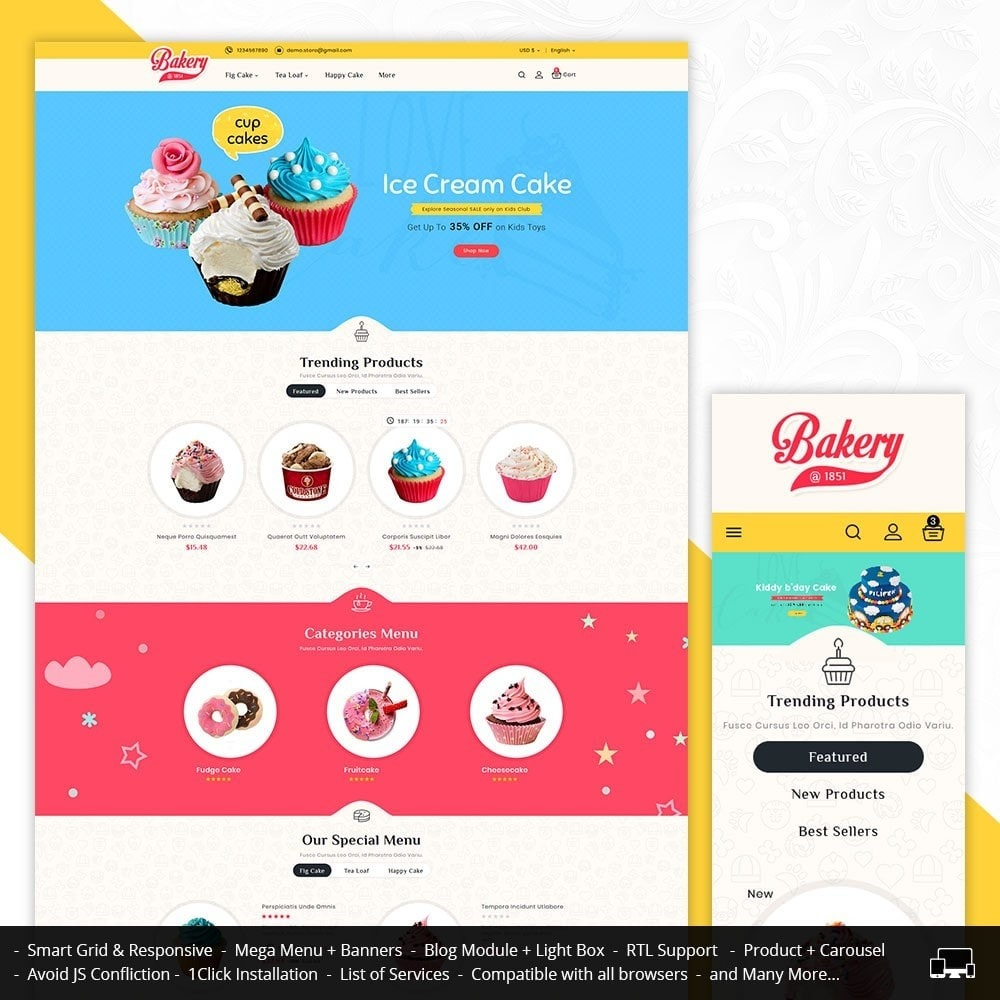 theme - Gifts, Flowers & Celebrations - Cakery - Bakery Shop - 1