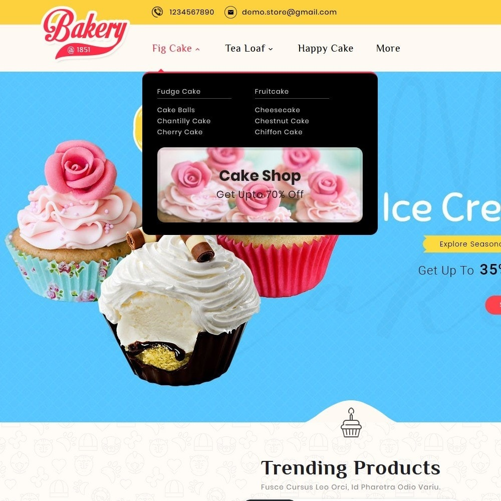 theme - Gifts, Flowers & Celebrations - Cakery - Bakery Shop - 11