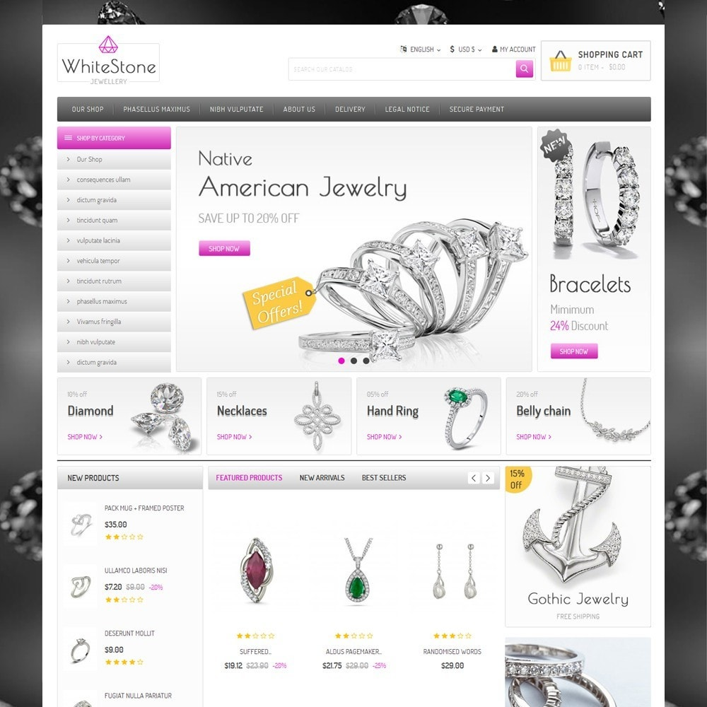 theme - Bijoux & Accessoires - Whitestone  - The Jewelry Shop - 2