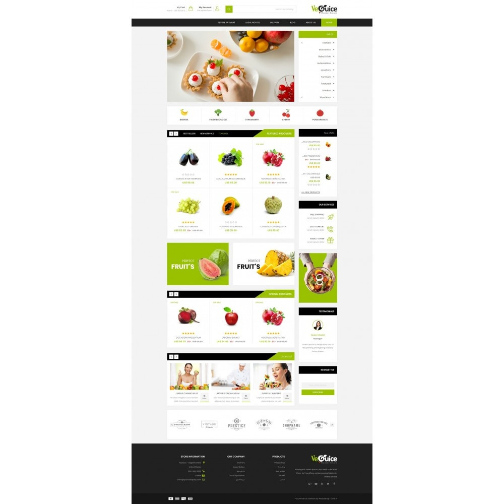 theme - Food & Restaurant - VeGuice - Organic Store - 10