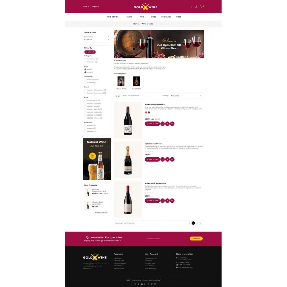 theme - Napoje & Wyroby tytoniowe - Gold Wine Store - 6