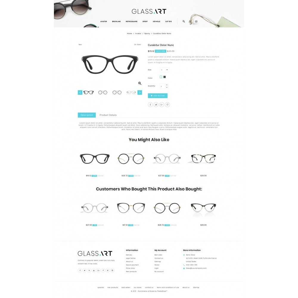 theme - Mode & Schuhe - Glass Art -Eyeglasses Store - 4