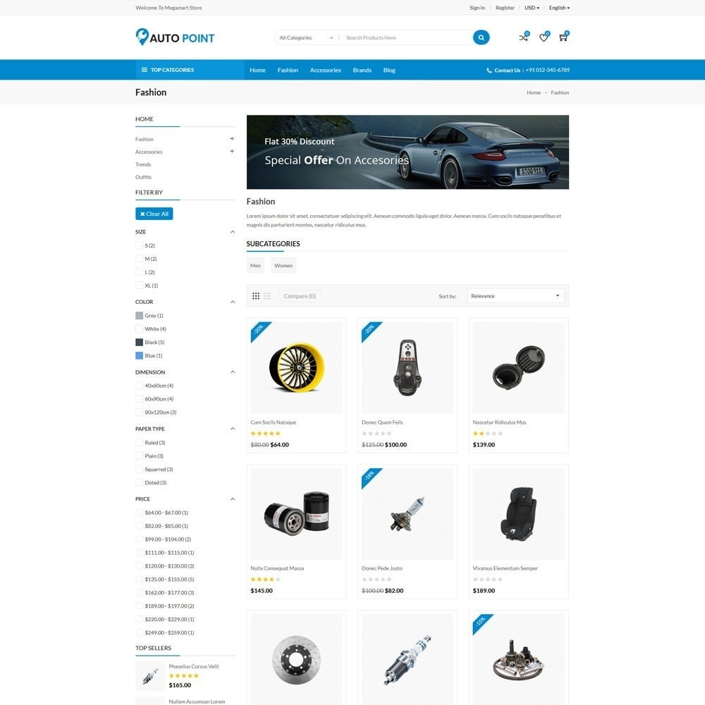 theme - Automotive & Cars - AutoPoint Store - 4