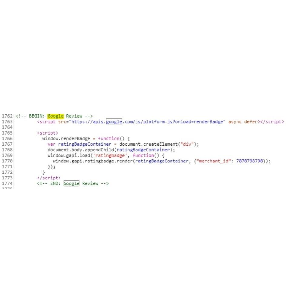 module - Opinie klientów - Google customer reviews - 4