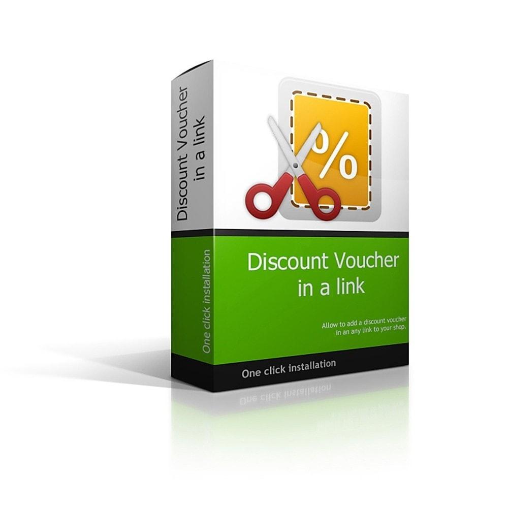 module - Promoties & Geschenken - Discount Voucher in URL - 1