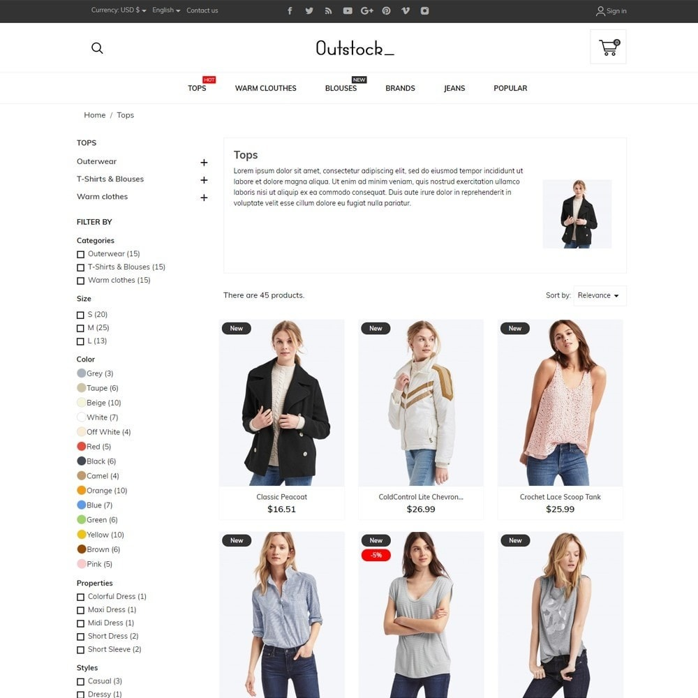 theme - Fashion & Shoes - Outstock Fashion Store - 6