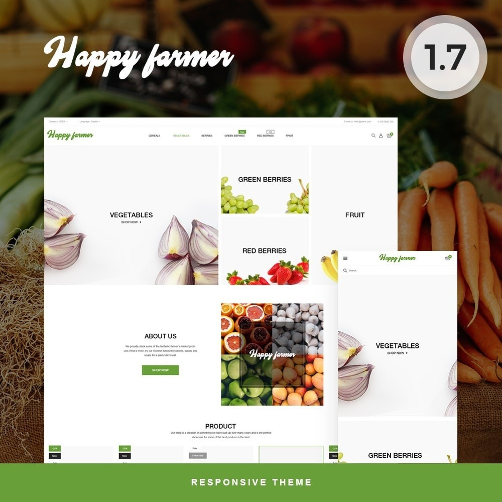 theme - Food & Restaurant - Happy Farmer - 1