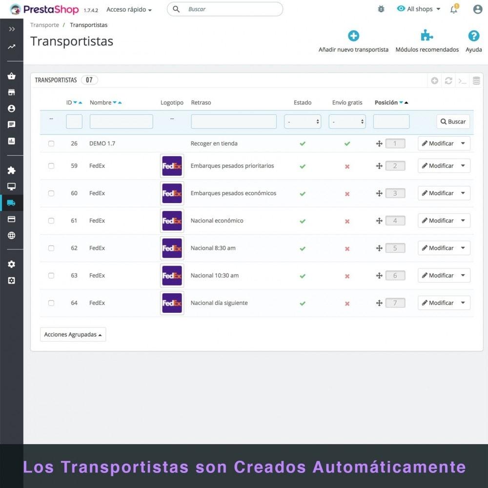 module - Transportistas - FedEx - 5