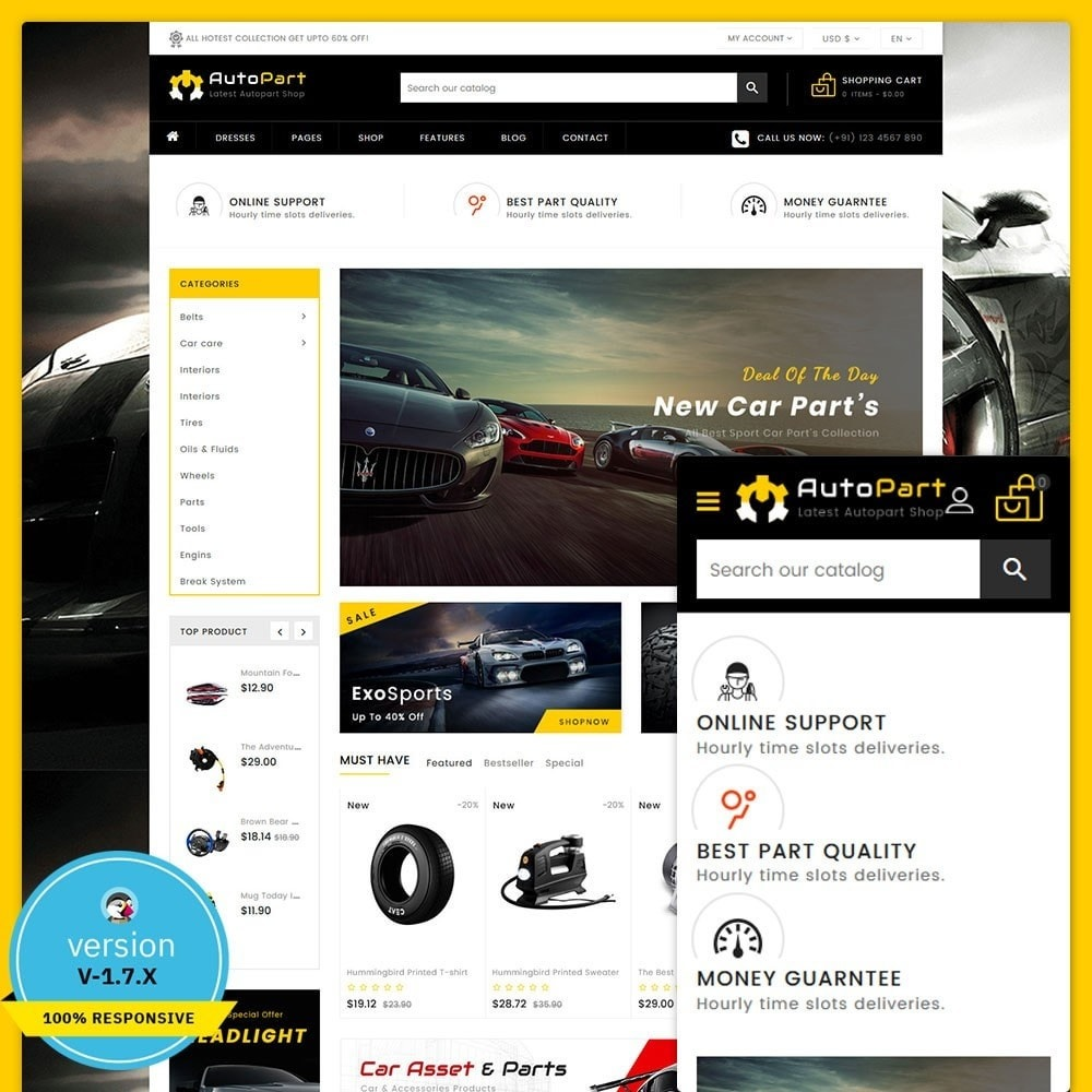 theme - Automotive & Cars - Autopart - Cars & Automotive Store - 1