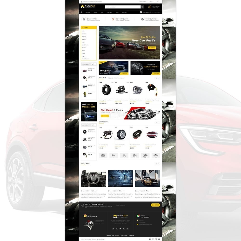 theme - Automotive & Cars - Autopart - Cars & Automotive Store - 2