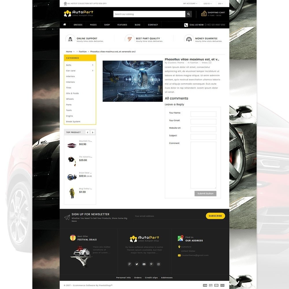 theme - Automotive & Cars - Autopart - Cars & Automotive Store - 6