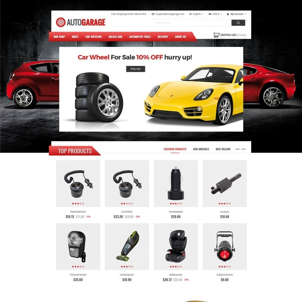 theme - Automotive & Cars - Autogarage - The Automobile Shop - 2