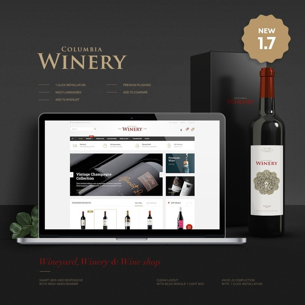 theme - Boissons & Tabac - Winery Store - 1