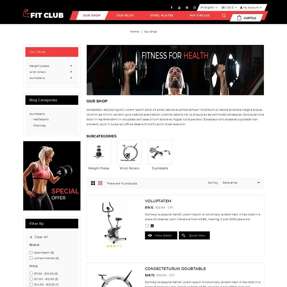 theme - Health & Beauty - Fitclub - Online Gym Store - 5