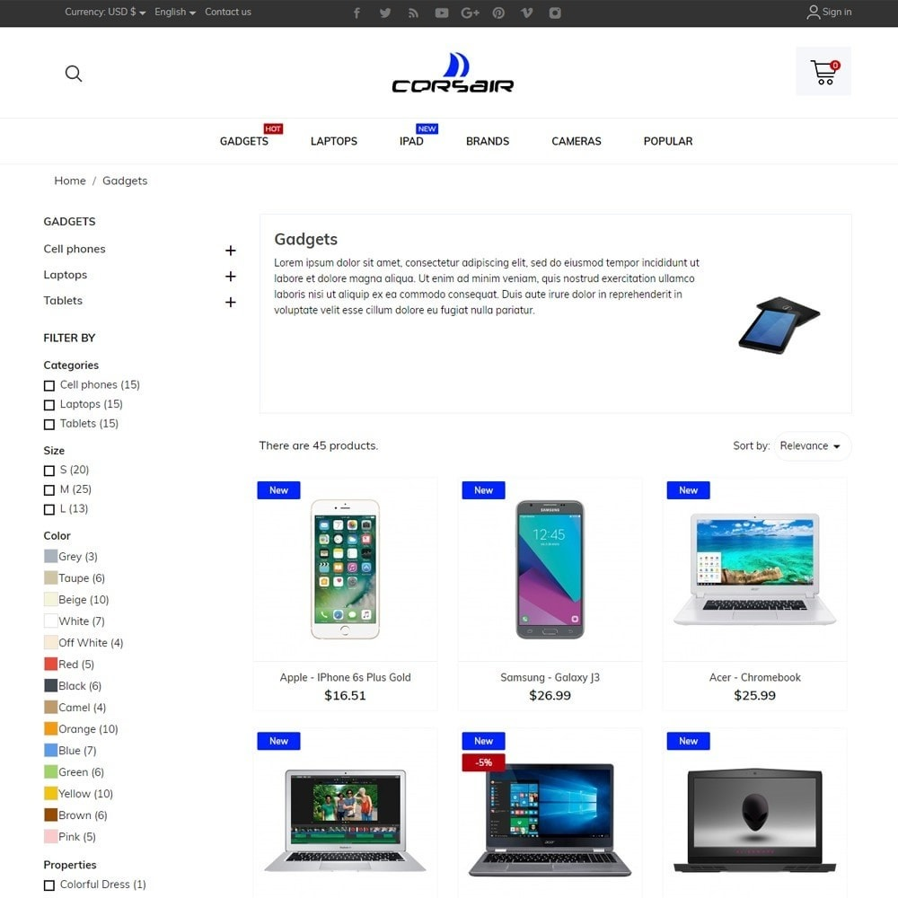 theme - Electronics & Computers - Corsair - High-tech Shop - 6