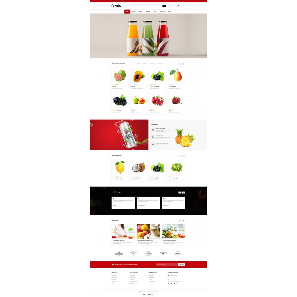 theme - Alimentos & Restaurantes - Fresh Fruits Store - 2