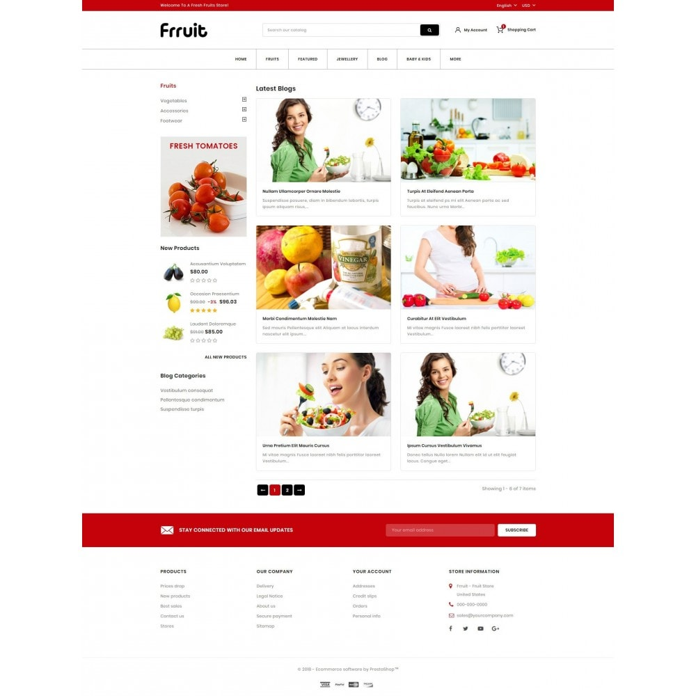 theme - Alimentation & Restauration - Fresh Fruits Store - 9