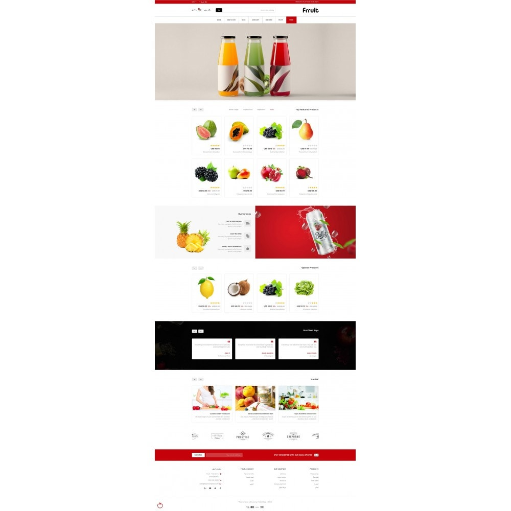 theme - Alimentation & Restauration - Fresh Fruits Store - 10