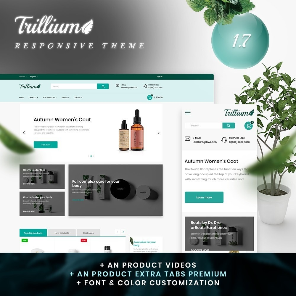 theme - Health & Beauty - Trillium Cosmetics - 1