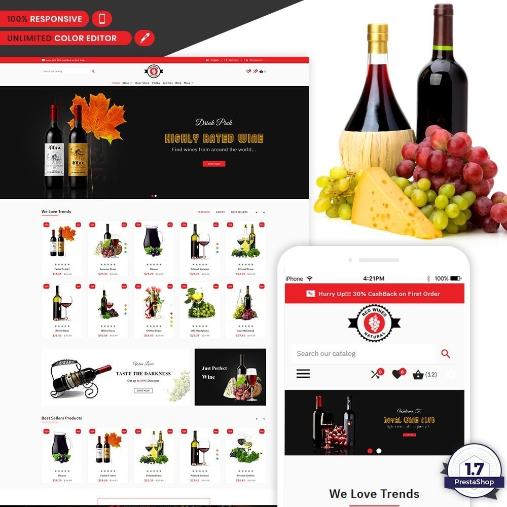 theme - Bebidas & Tabaco - Red Wine Natural Wine Shop - 1