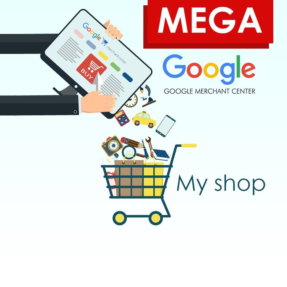 module - Comparatori di prezzi - SeoSA Mega Google Merchants (Google Shopping) - 1