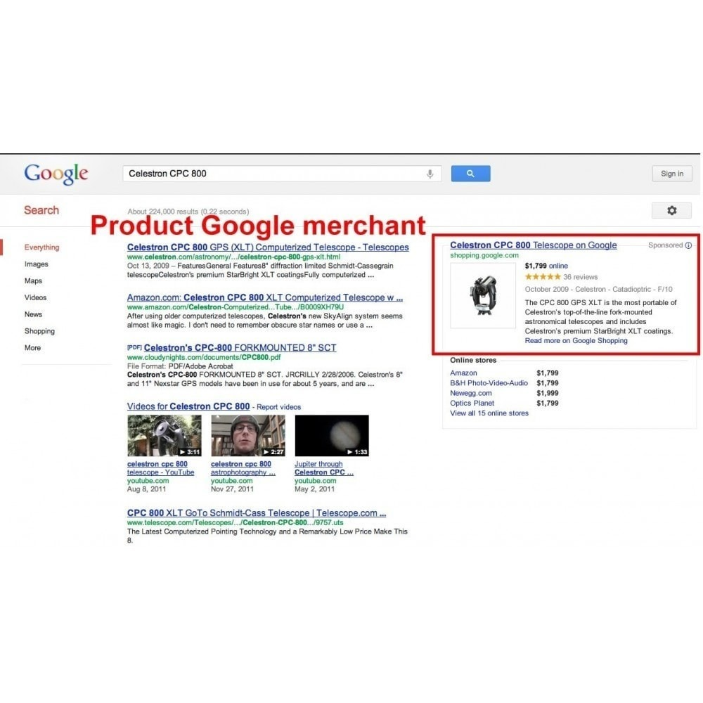 module - Price Comparison - SeoSA Mega Google Merchants (Google Shopping) - 4