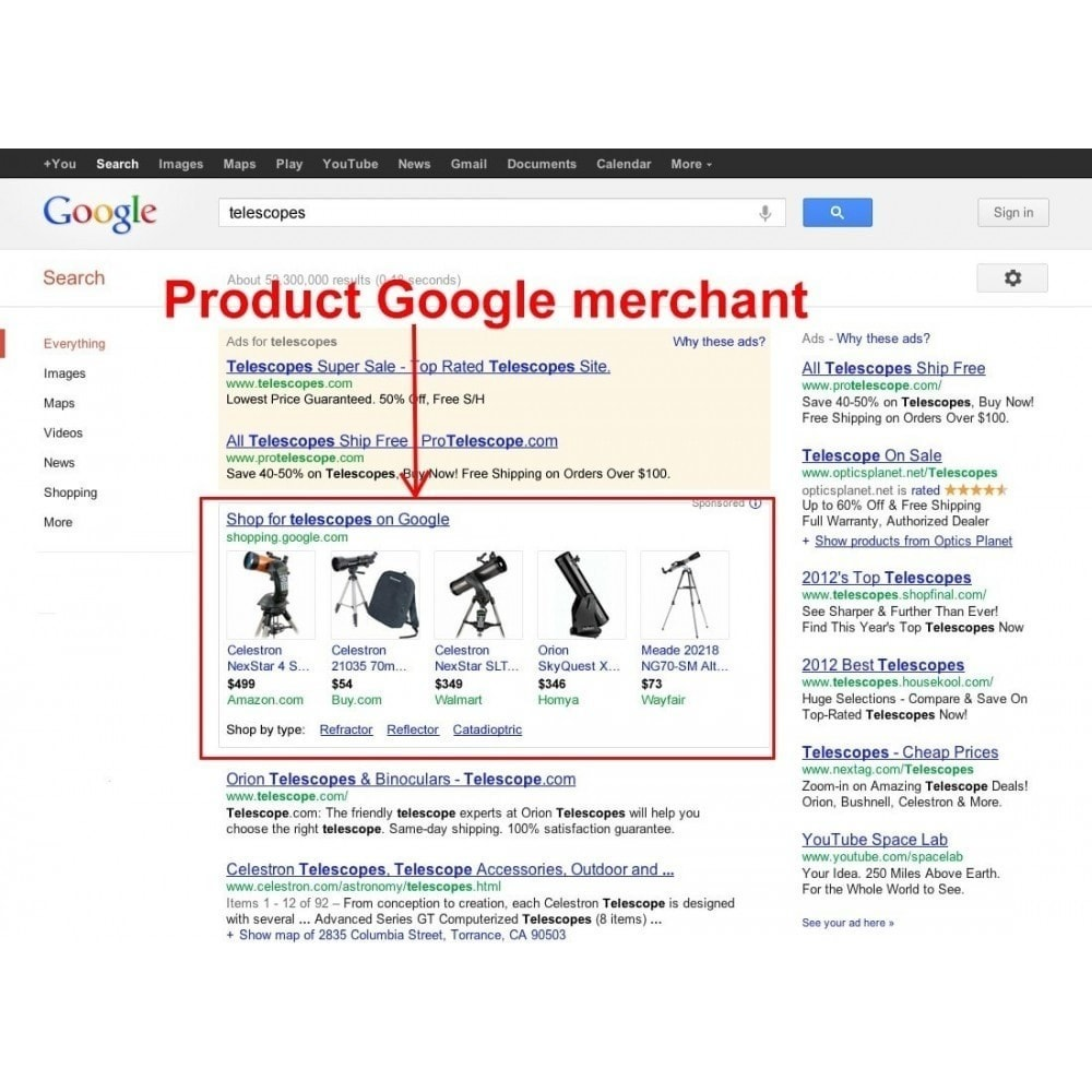 module - Comparateurs de prix - SeoSA Mega Google Merchants (Google Shopping) - 3