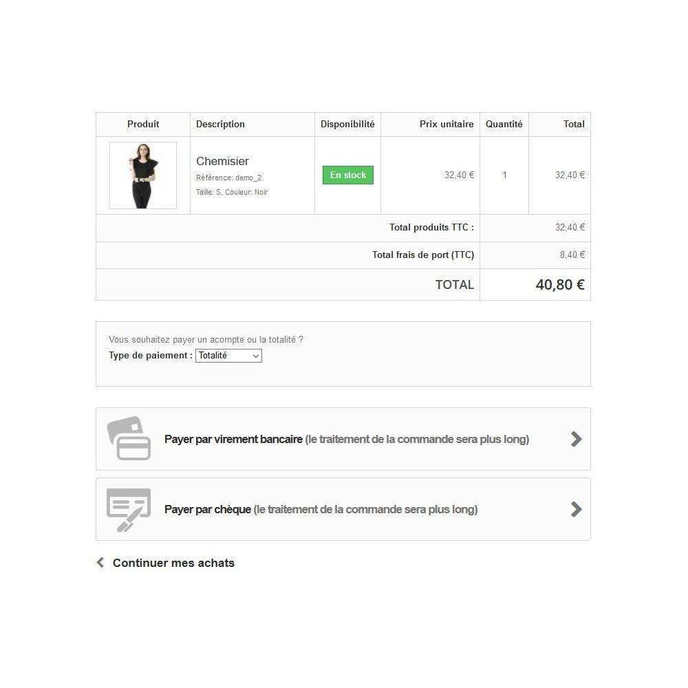 module - Autres moyens de paiement - Module d'acompte avec facture d'acompte - 3