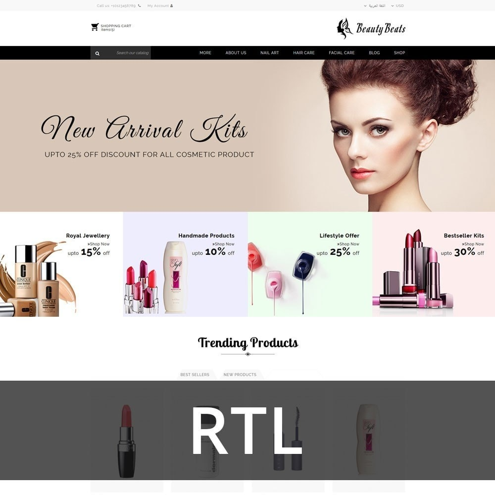 theme - Health & Beauty - Beauty Beats - The Beauty Shop - 3