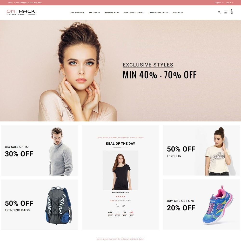 theme - Fashion & Shoes - OnTrackFashion - The fashion Hub - 2