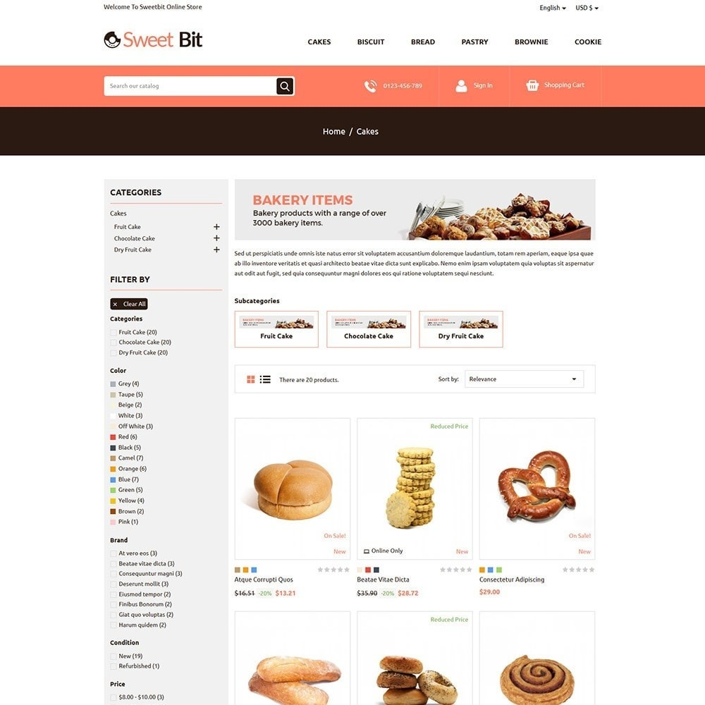 theme - Food & Restaurant - Sweetbit - Bakery Online Store - 3