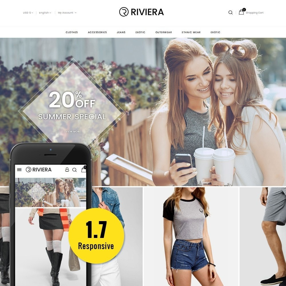 theme - Fashion & Shoes - Rivera Fashion Store - 1
