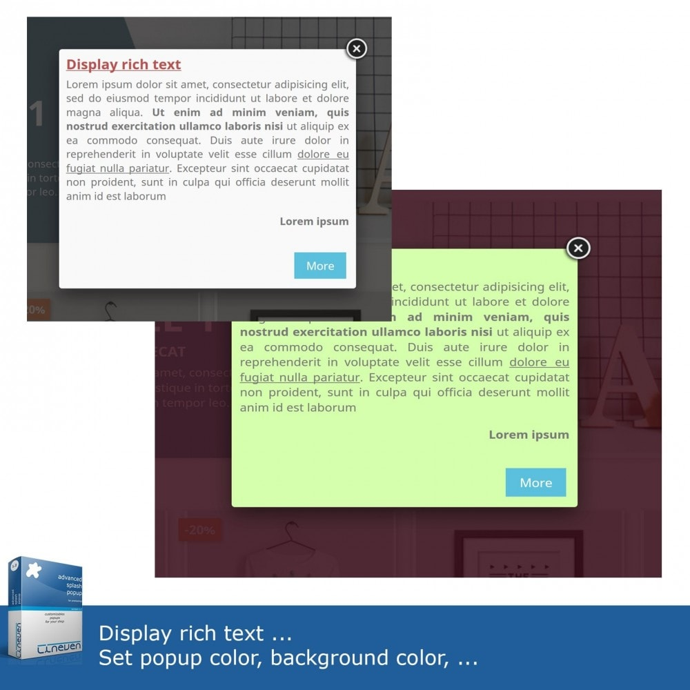 module - Dialoogvensters & Pop-ups - Advanced Popup - Products, texts, images, exit and more - 4