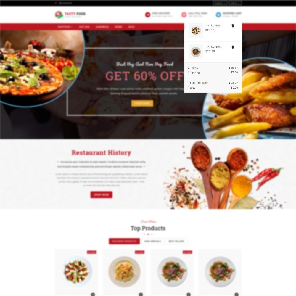 Cooking Stores Online: PrestaShop Addons