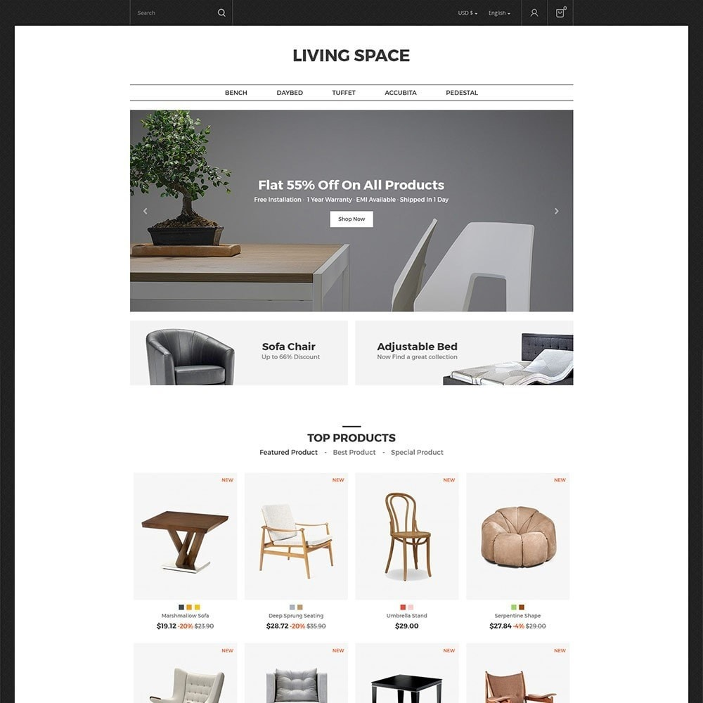 theme - Home & Garden - Living - Furniture Store - 2