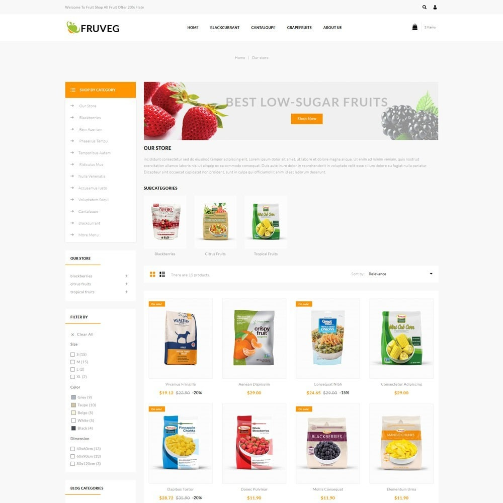 theme - Food & Restaurant - Fruveg - The Grocery Store - 4