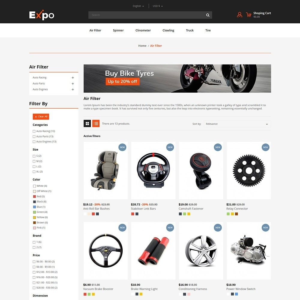 theme - Automotive & Cars - Tool - Auto Store - 3