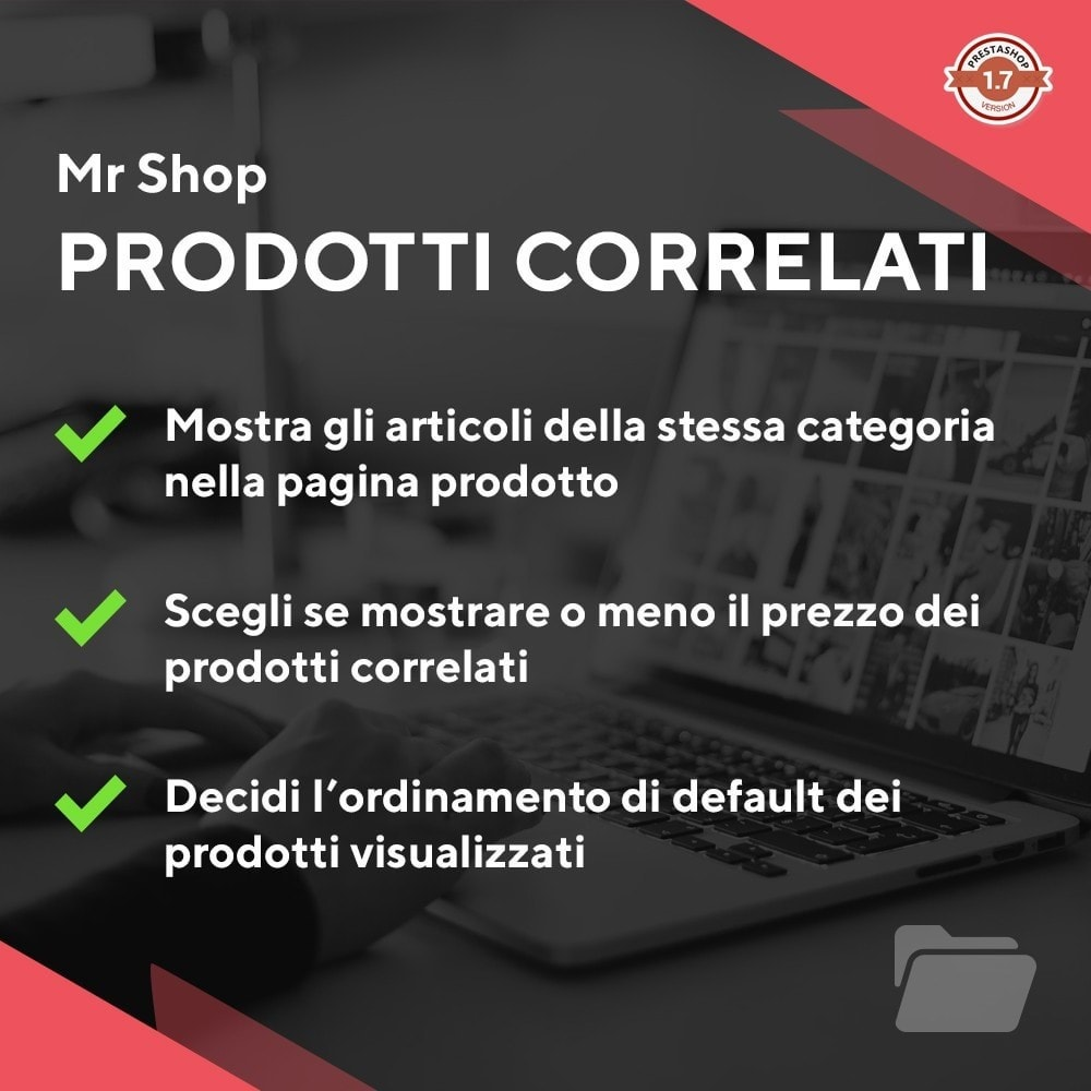 module - Cross-selling & Product Bundle - Mr Shop Prodotti Correlati - 1