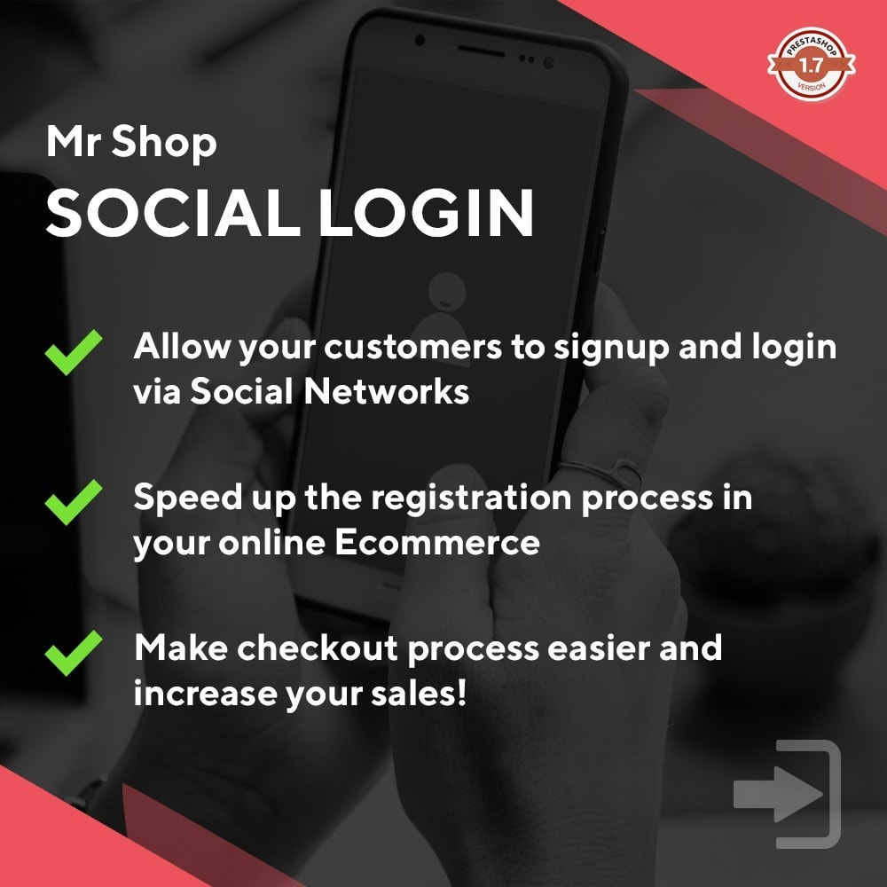 module - Login & Verbinden - Mr Shop Social Login - 1