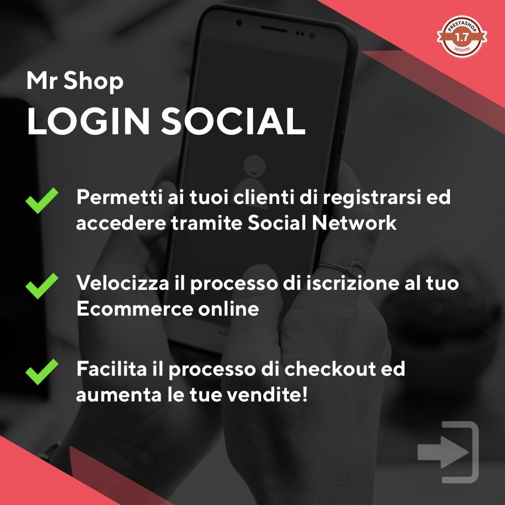 module - Login/Connessione - Mr Shop Login Social - 1