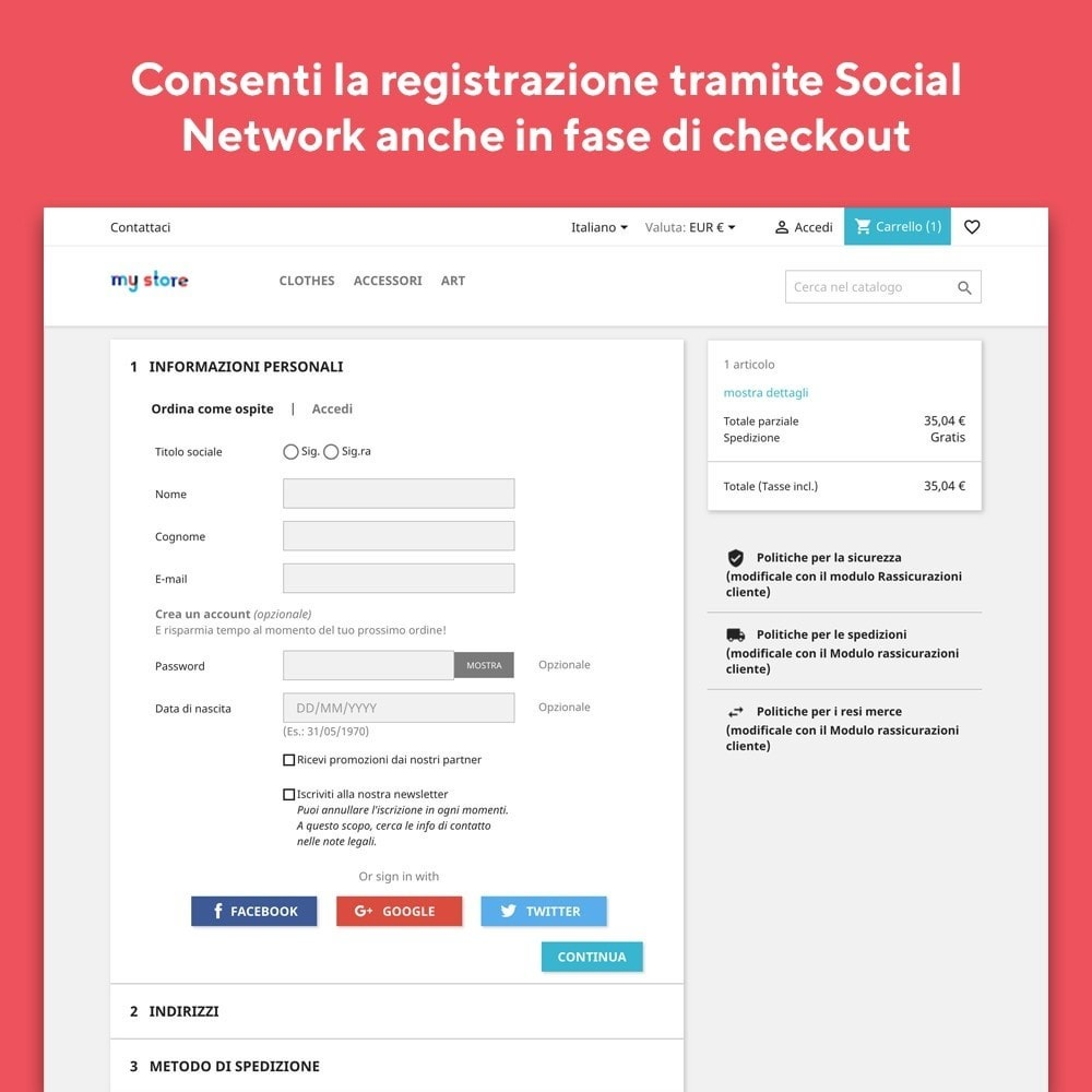 module - Login/Connessione - Mr Shop Login Social - 3