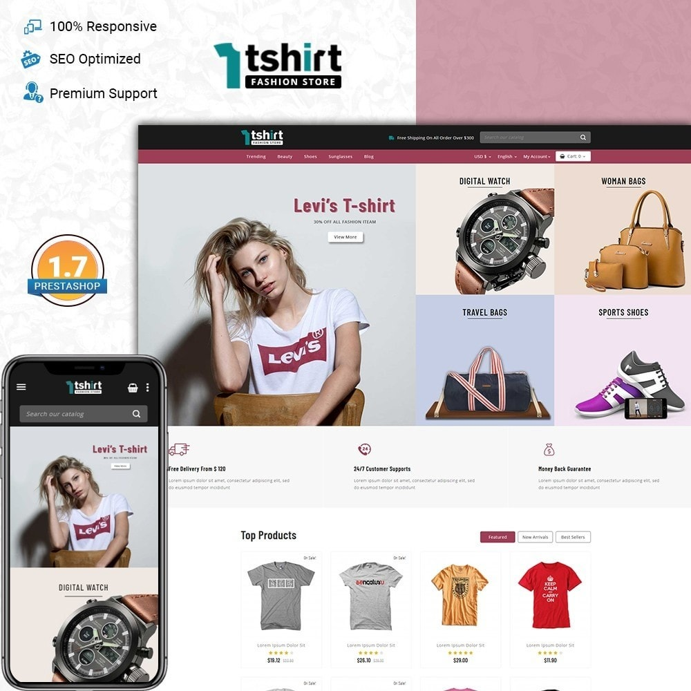 theme - Mode & Schoenen - Tshirt - Fashion store - 1