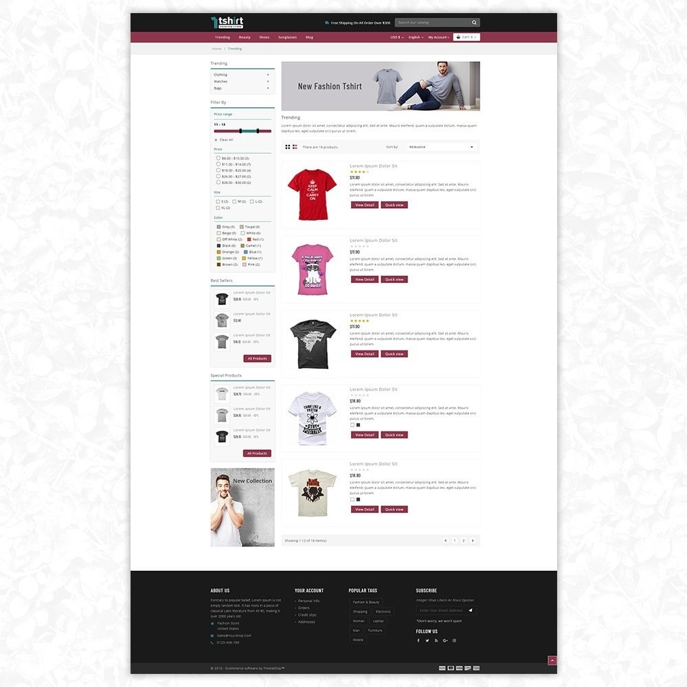 theme - Mode & Schoenen - Tshirt - Fashion store - 4