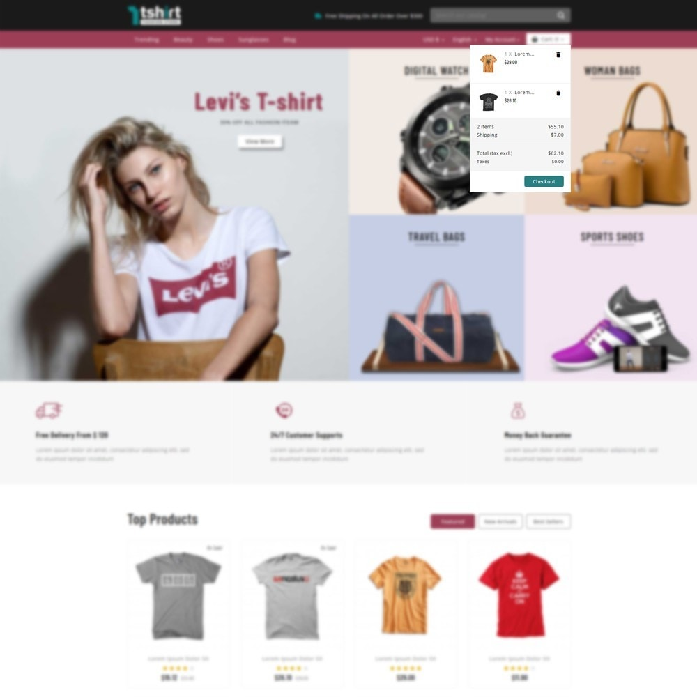 theme - Mode & Schoenen - Tshirt - Fashion store - 7