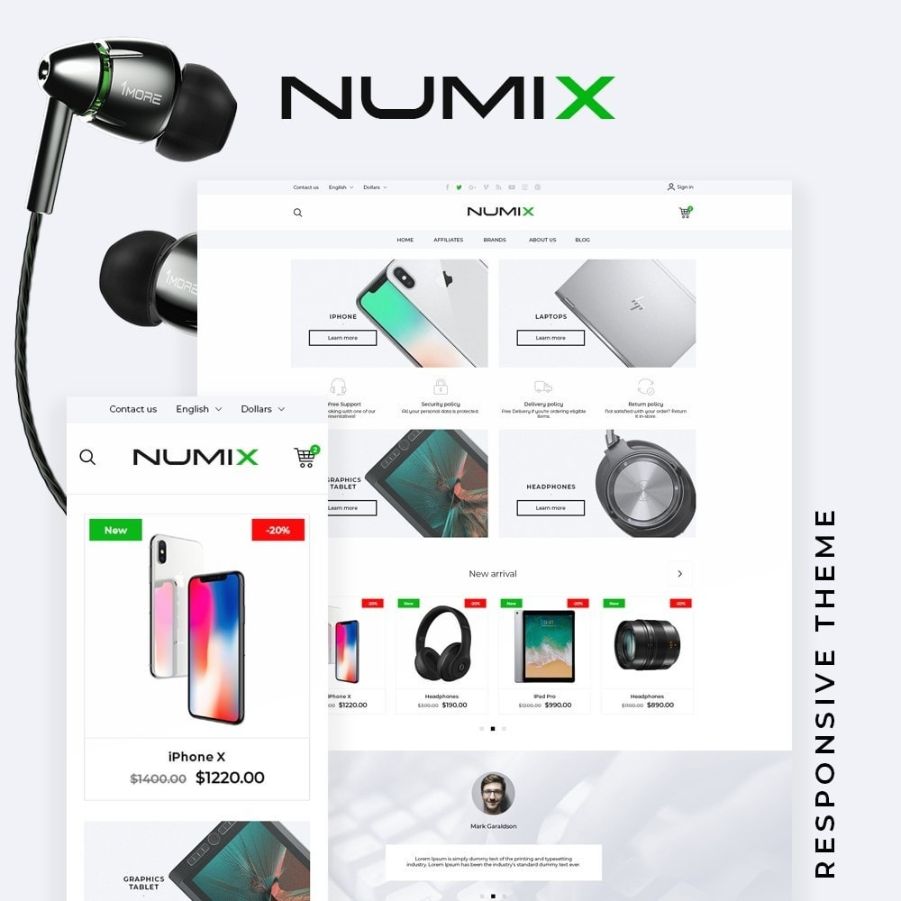 theme - Electronics & Computers - NumiX - High-tech Shop - 1